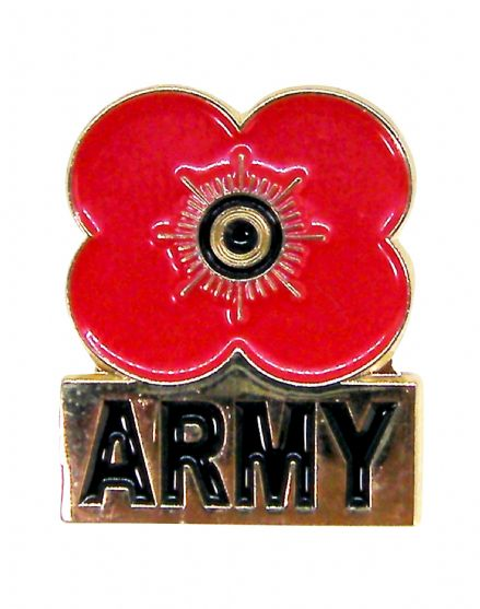 Poppy Pin Badge - Army